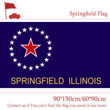 Free shipping 3x5ft USA Springfield City Flag The Capital of Illinois 90*150cm 60*90cm Custom High-quality 100d Polyester