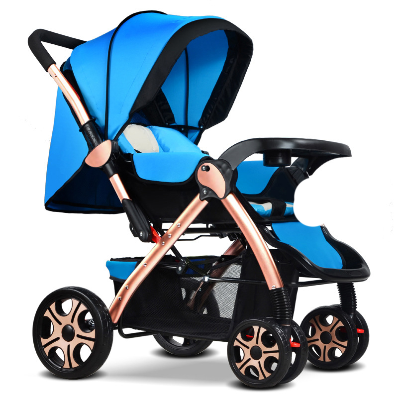High Landscape Baby Stroller Two Way Can Sit and  Lie  Portable Folding twin stroller high landscape can lay the portable folding baby cart