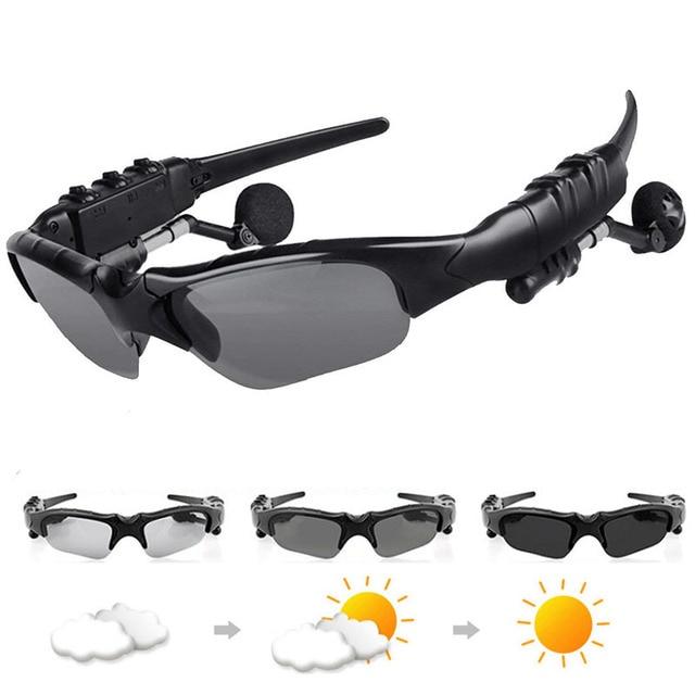 50389e870c Bluetooth 4,1 auriculares gafas de sol fotocromáticas camaleón polarizadas  gafas de sol mujeres hombres