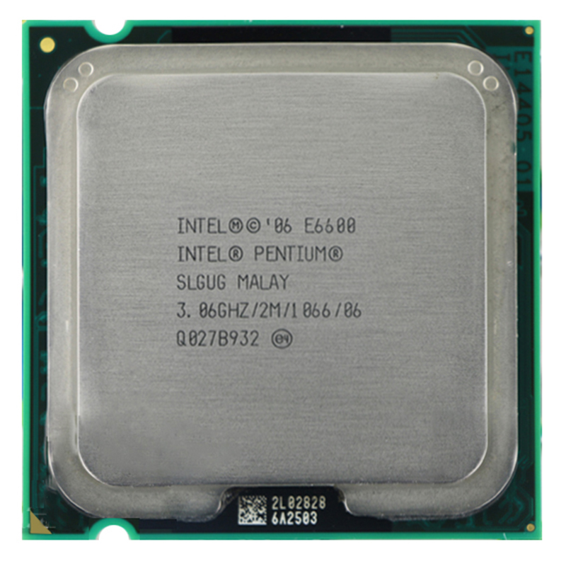 Original  E6600 CPU Processor (3.0Ghz/ 2M /1066GHz) Socket 775 Free Shipping