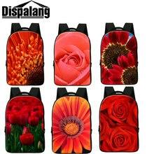 Dispalang 3D Роуз цветок печати ноутбук рюкзаки для женщин девушки случайные рюкзак студент back pack feminina сумки на ремне