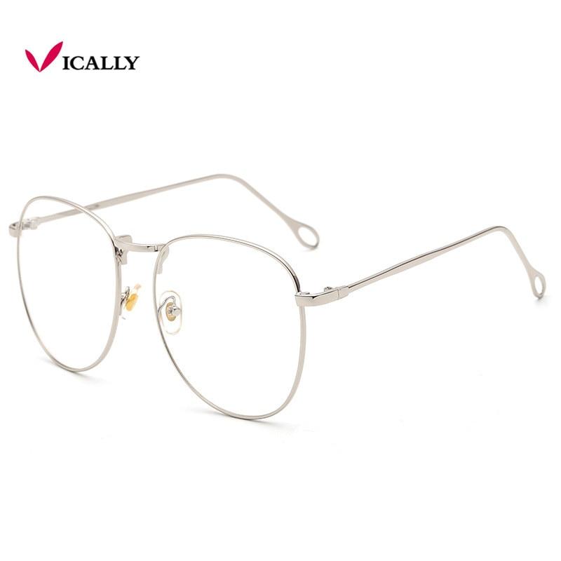Retro Oversize square nerd glasses clear lens frame unisex gold Big metal Eyeglasses optical men women black uv oculos