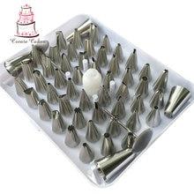 52 stücke Russische Piping Tipps Bag, blatt Dekoration Spitze, Kuchen Werkzeug Gebäckdekorations Set Düsen Form-kuchen-gebäck-backen und Gebäck Werkzeuge JG0052