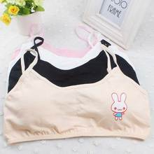 Cotton Girls Harnesses Bra Cartoon Girls Sponge Bra Cute Puberty Girl Underwear Rabbit Girls Harnesses Bra