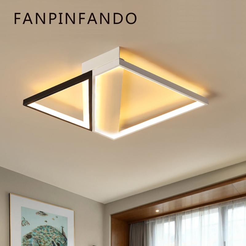 Modern Led Ceiling Lights for Living Room Ceiling Lamp with Remote Control Flush Mount Kitchen Lamp Indoor Lighting Bedroom lustre flush mount led modern crystal ceiling lamp lights with 1 light for living room lighting free shipping