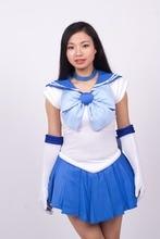 font b Sailor b font Mercury Blue font b Cosplay b font Costume Uniform Dress