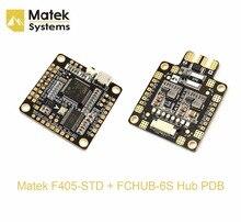 Matek F405-STD STM32F405 Flight Controller + Matek FCHUB-6S Hub Power Distribution Board for RC Drone Multicopter