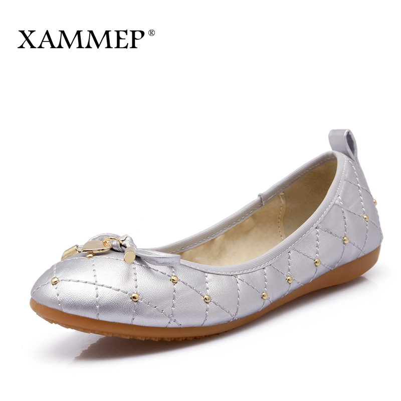 Xammep Women Flats Spring Autumn Brand Women Shoes Women Sneakers Soft Comfortable Round Toe Female Casual Shoes Plus Big Size muyang new 2017 women shoes genuine leather flats round toe bowtie soft comfortable flat shoes spring autumn casual female shoes