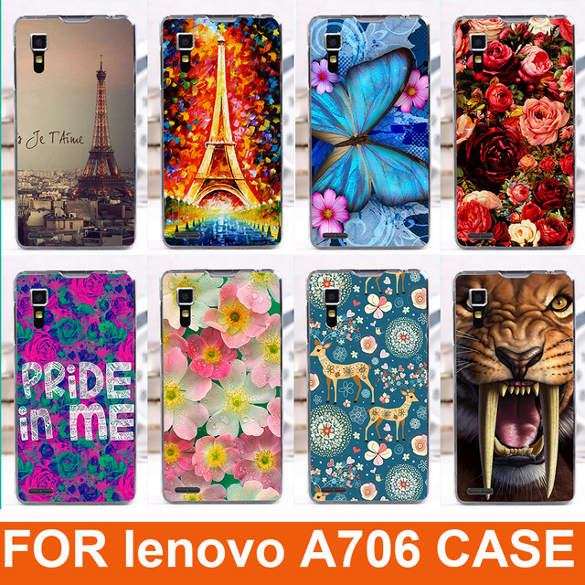 fashion diy cell phoen case for Lenovo A706 Case Cute Cartoon Hard back Cover Case For Lenovo a706 a 706 Back Cover freeshipping