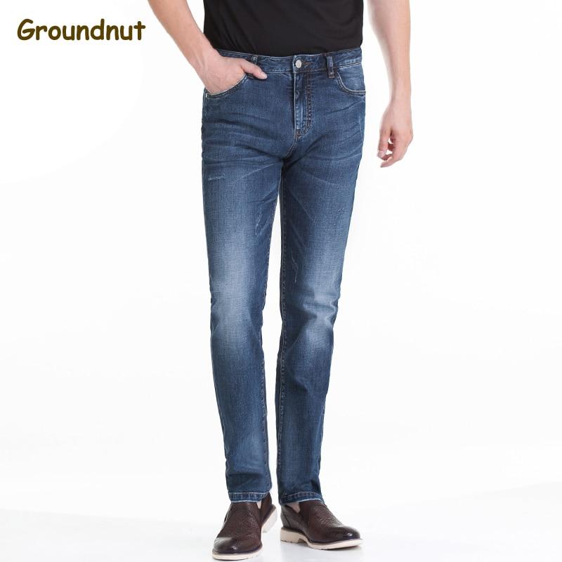 Groundnut Fashion Full Length Solid Skinny Jeans Men Brand Designer Clothing Denim Pants Male Cotton Casual Trousers jeans men fashion full length solid skinny jeans men brand designer clothing denim pants luxury casual trousers male plus size