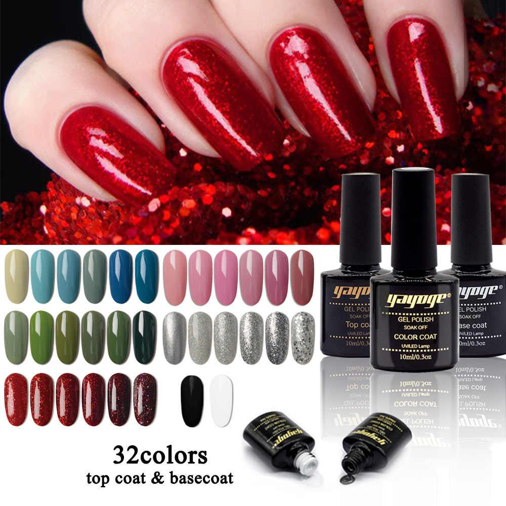 YAYOGE 108 colori NUOVO prodotto polacco del gel 10 ml/0.3 oz gel UV vernice Tutto Per Unghie top coat UV LED Gel di lunga durata Unghie artistiche Gel
