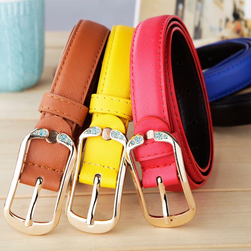 Spring And Summer Women's Strap Fashion Thin All-match Diamond-studded Belt Waist Belt Strap P029