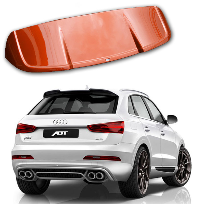 For <font><b>Audi</b></font> <font><b>A3</b></font> <font><b>Sportback</b></font> 2010-2016 Q3 2013-2016 Rear Wing <font><b>Spoiler</b></font>, Trunk Boot Wings <font><b>Spoilers</b></font> paint ABS 3M Paste image