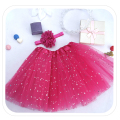 Children Fluffy Pettiskirts Tutu Saias Baby Girls Skirts Translucent 3-Layer Princess Skirt Girls Dance Wear Party Clothes