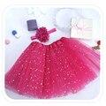 Niños Pettiskirts Mullidos Tutú Saias Faldas de los Bebés Translúcido 3-capa de la Princesa Muchachas de La Falda Bailan Ropa de Fiesta Desgaste