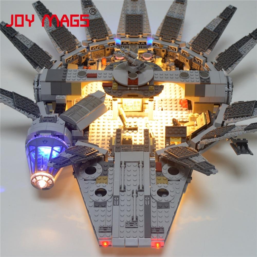 JOY MAGS Only Led Building Blocks Kit Light Up Kit For Star Wars Millennium Falcon Force Awakening 10467 Excluding Model