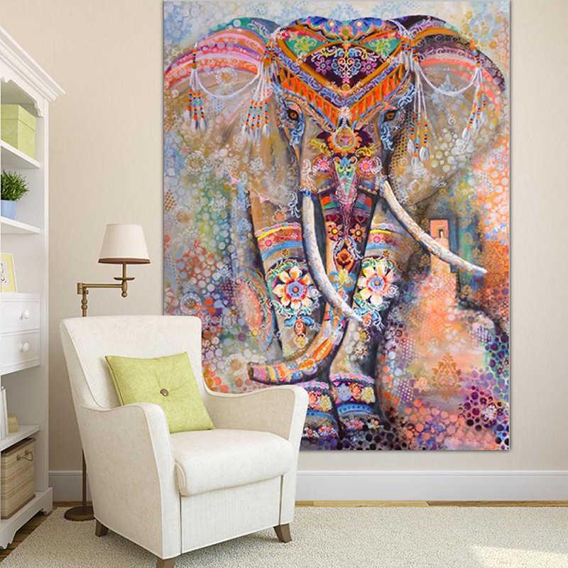 India Mandala Permadani Wallpaper Gantung Pantai Melemparkan Karpet Plafon Tenda Perjalanan Kasur Isomatte Mandala Tapisserie