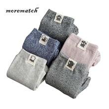 Morematch 1Pair Cute Robot Label Winter Men Warm Socks Solid Color Over Ankle Comfortable Cotton Leisure 2018