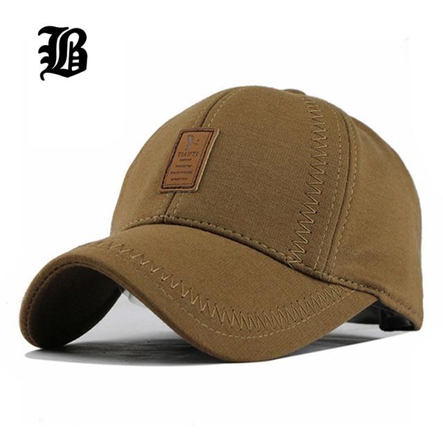 [FLB] оптовая Brand Hat Cap Теплый Утолщенной Хлопок Бейсболки Кости Snapback Гольф Cap Женщины Вязаная Шапка Встроенные Шляпы для Мужчин