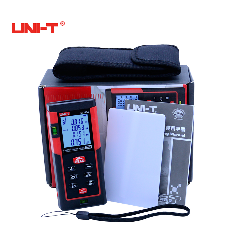 Digital Laser distance meter UNI-T 40M/60m/80m/100m/120m/150m laser rangefinder telemetre with LCD backlight display
