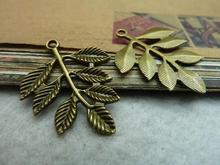 10pcs 28x34mm Antique Bronze Leaves Leaf Charm Pendant C7173(China (Mainland))