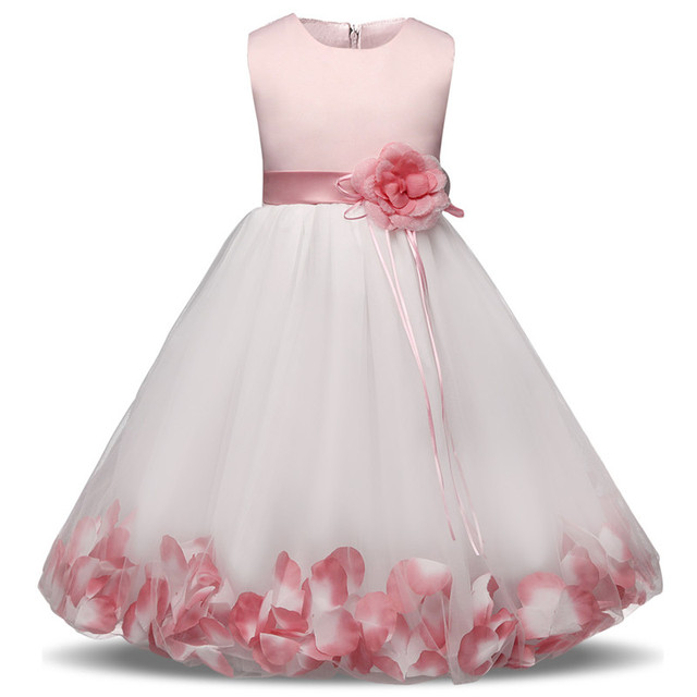638302a228 Flower Girl Kids Dresses Clothes For Girl Wedding Veil Gown Children Party  Wear Fancy Prom Ball Dress Teenager Clothing 10 Years