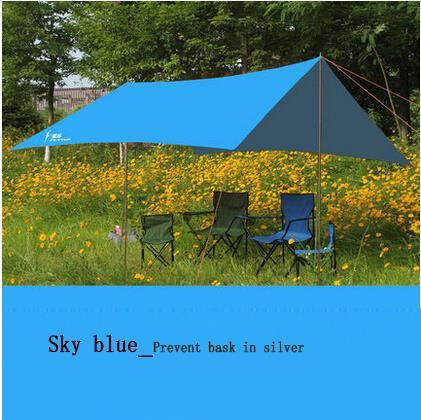 300cm*290cm outdoor awning camping shade canopy gazebo for garden single tent sun shelter beach 15 colors ушм