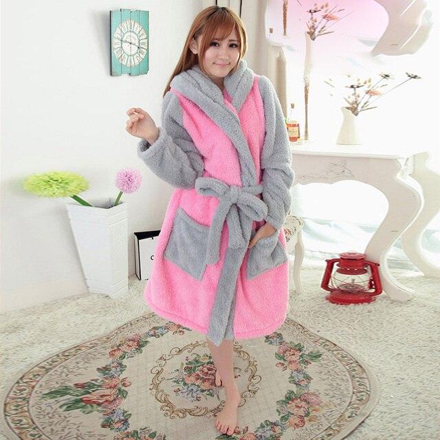 fbbdff33e76d On Sale New Sexy Winter Warm Adult Sleepwear Casual Coral Fleece Pink  Rabbit Cut Pyjamas Women