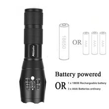 AloneFire E17 Powerful LED Flashlight 18650 zoom torch waterproof flashlights CREE XM-L2 U3 LED 4000LM led Zoomable light G700