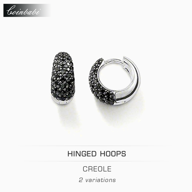 Hoop Earring Creole Trendy Gift For Women Ts High Quality Earring Thomas Style 925 Sterling Silver Zirconia Fashion Jewelry