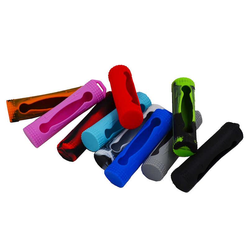 10 Uds 18650 funda de silicona de goma para celda de batería y funda de silicona/pegatina/manga/piel para caja mod vapor li-ion 18650 batería