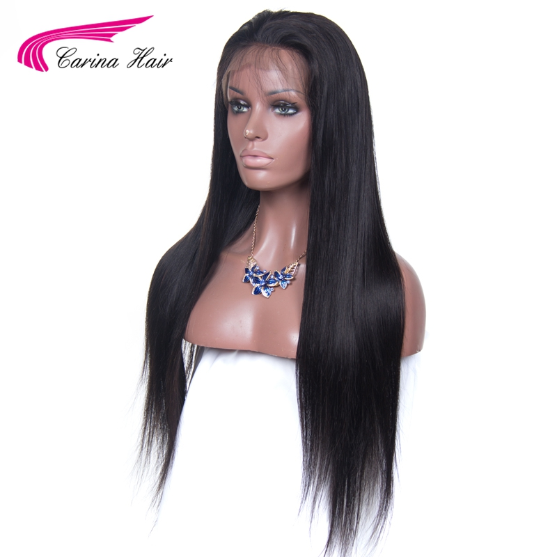 Carina Brazilian Remy font b Hair b font Straight Full Lace font b Human b font