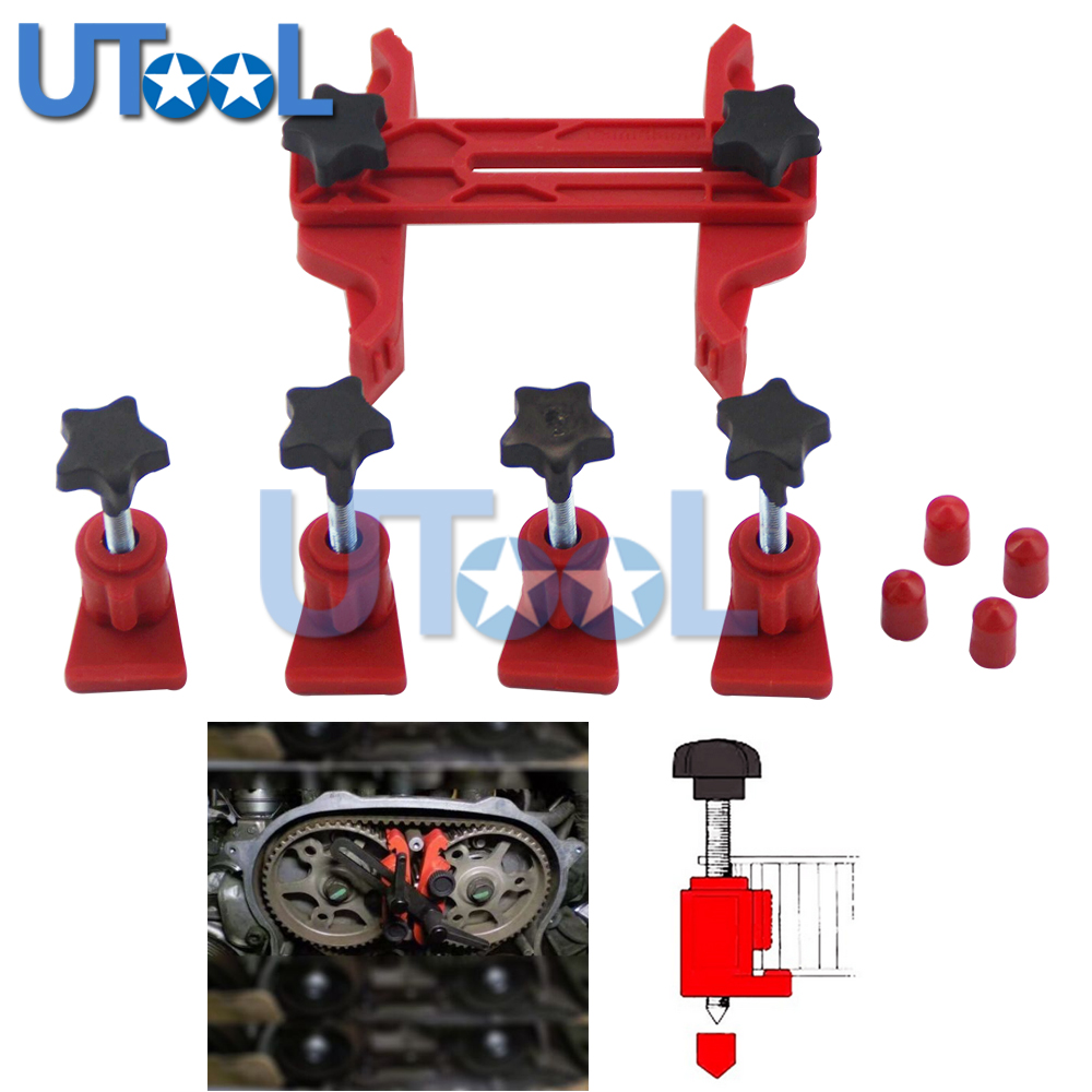 Universal 5pcs Dual Cam Clamp Camshaft Timing Sprocket Gear Locking Tool Kit янссон т волшебная зима повесть сказка isbn 978 5 389 03261 3