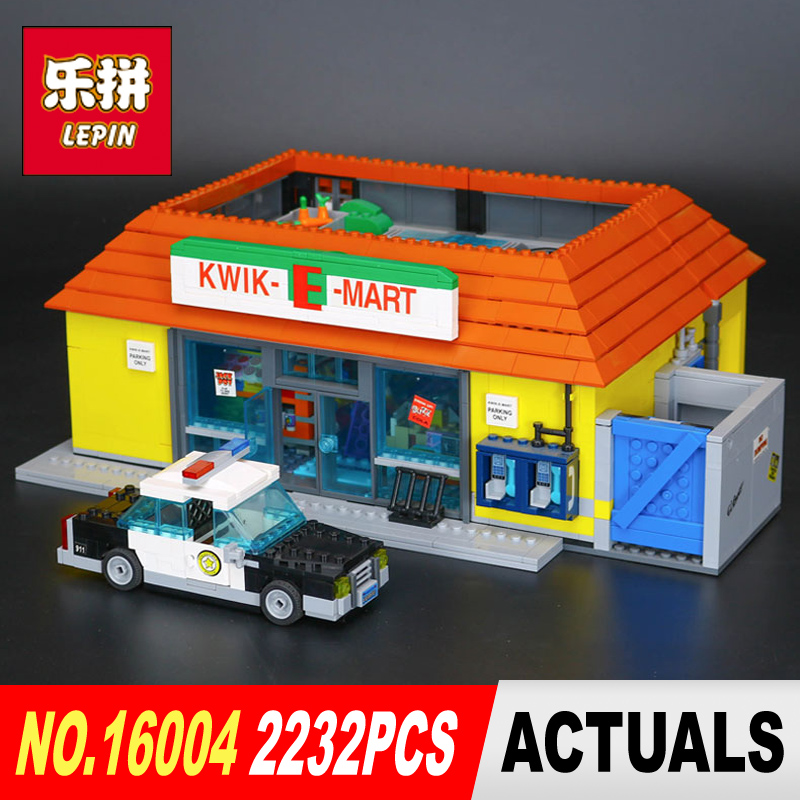 New LEPIN 16004 2232Pcs the Simpsons Action Model Building Block Bricks Compatible 71016 for children gift new lepin 22001 pirate ship imperial warships model building kits block briks toys gift 1717pcs