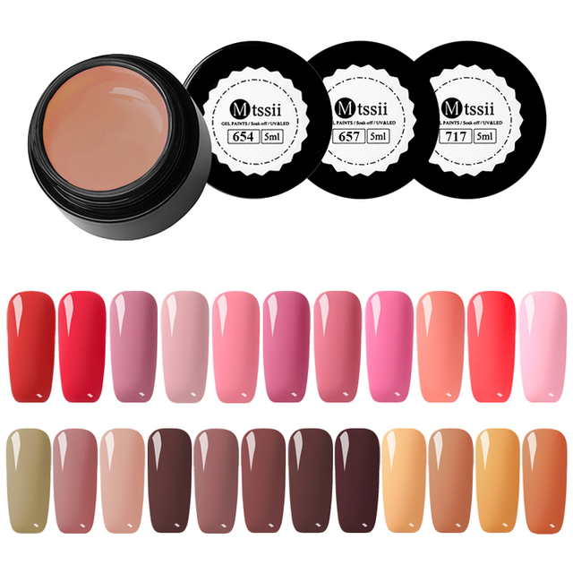 Mtssii 5ml Nail Gel 21 Colors Red System Nail Polish Color Gel ...