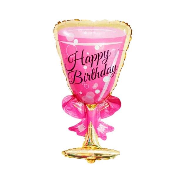 181 Qgqygavj Nouveau Haute Qualité Du Papier Daluminium Ballons Joyeux Anniversaire Champagne Bouteille De Vin Bar Ouvert De Mariage De Fête