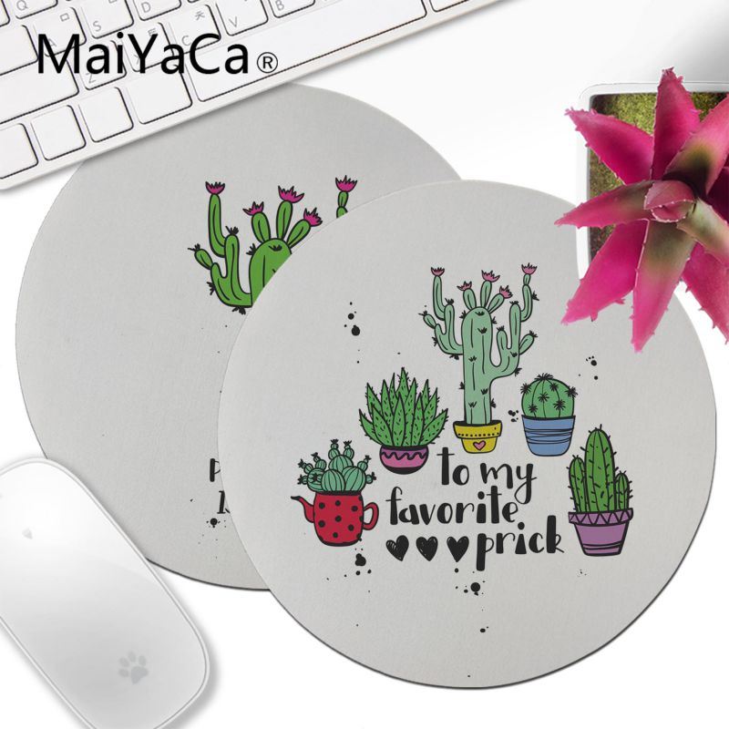 Doelbewust Maiyaca Nordic Cactus Eenvoudige Whie Gamer Speed Muizen Retail Rubber Ronde Mousepad Tapijt Top Selling Aangepaste Muismat Anime