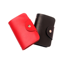 1pcs Free Shipping Men's Women  Credit Card Holder/Case card holder wallet Business Card Package real genuine Leather Bag