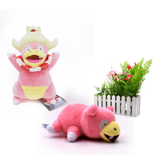 2 PCS/sets Anime Slowpoke Kong idiot Peluche Slowking Stuffed Plush Cartoon Dolls Hot Christmas Gift Baby Toys For Children