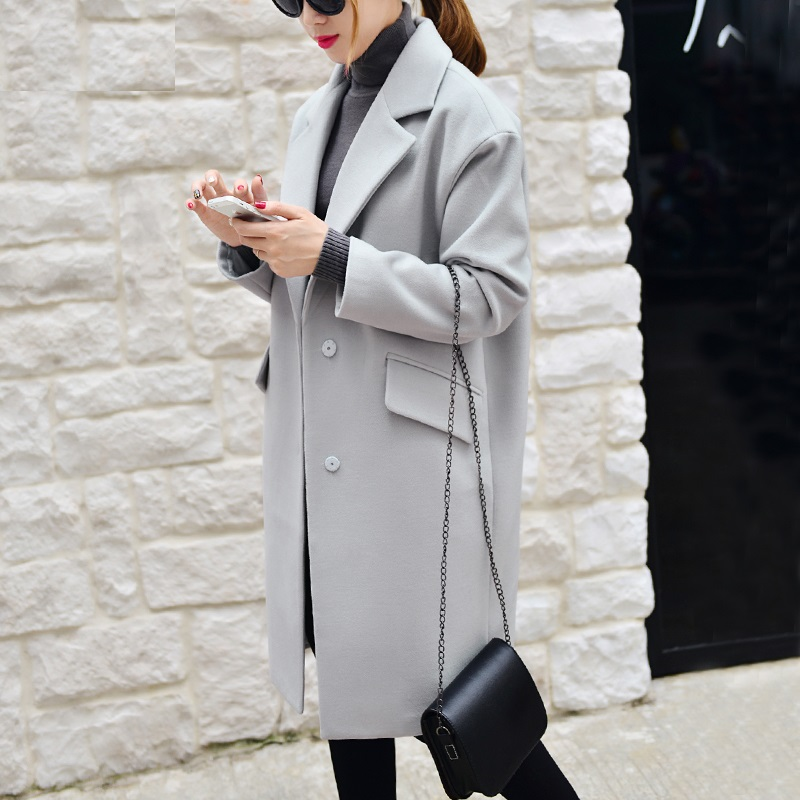 3981ed6ab74a4 Light Grey Winter Coat Loose Imitation Cashmere Outerwear Padded Thick  Lining Women Coats Dusty Pink 5XL