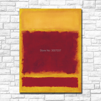 Wall Pictures For Living Room Abstract Mark Rothko's Composition Canvas Art Home Decor Modern No Frame Oil Painting