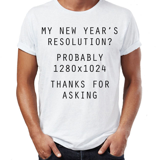 New Year Resolution Computer Joke Funny New Year Gift Mens Womens ...