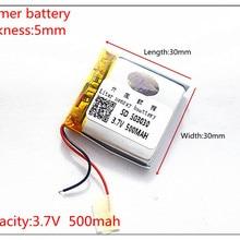 503030 3,7 в 500 мАч 453030 литиевая полимерная аккумуляторная батарея Li Po li ion для Mp3 DVD камеры gps bluetooth электроники