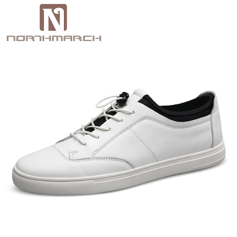 NORTHMARCH Brand Genuine Leather Men Casual Shoes Fashion Style Leather Men Shoes Designer Casual Shoes For Sneakers Men Summer northmarch brand genuine leather men casual shoes fashion style leather men shoes designer casual shoes for sneakers men summer