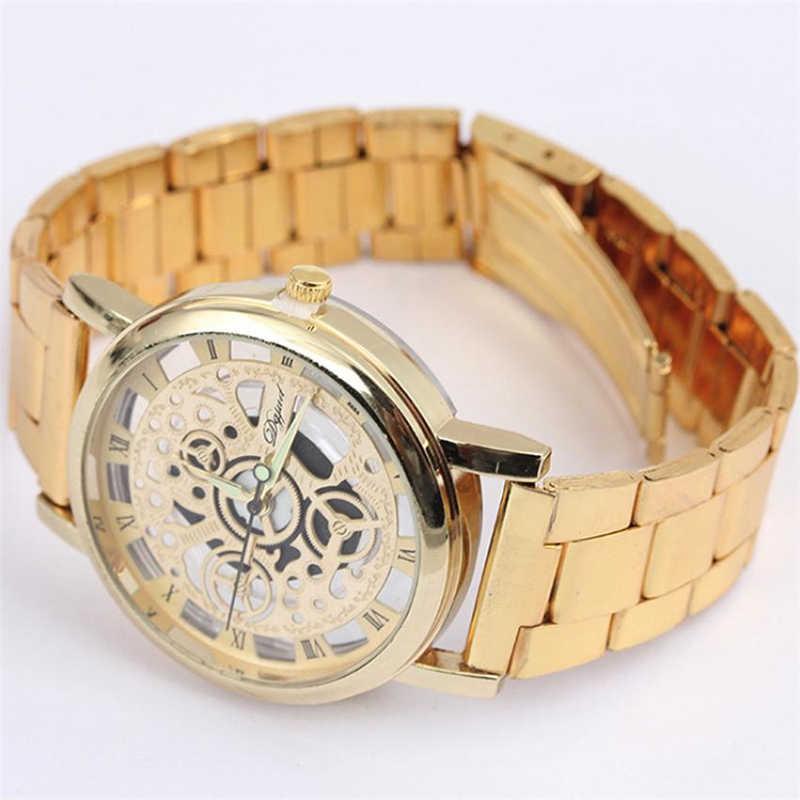 นาฬิกาแฟชั่นผู้ชายใหม่ 2018 สแตนเลสวงดนตรีนาฬิกาข้อมือ Vintage นาฬิกา Analog ควอตซ์นาฬิกาข้อมือ relogio masculino 40