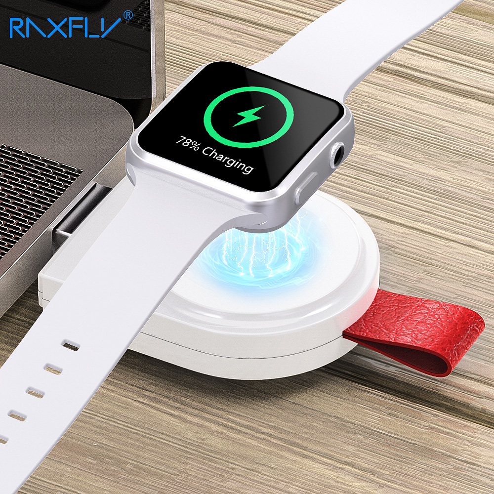 RAXFLY Wireless Charger For Apple Watch 3 4 Magnetic Wireless Charger Dock For Apple i Watch Series 1 2 3 4 USB Charging Adapter