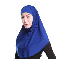 Free Shipping Muslim Head Scarf Women Fashion Plain Hijab Under cover Cap Islamic Cover Hijabs Scarves