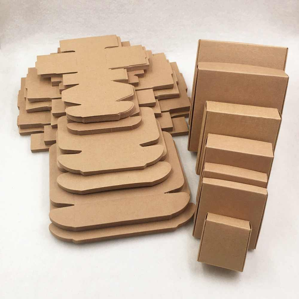 1 pcs Various sizes Kraft Paper Packing Gift Boxes, DIY Candy/Wedding/Party/Crafts/Gifts/Candy Storage Boxes  Brown Aircraft Box