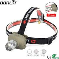 BORUiT Q5 светодиодный налобный фонарь 3 режима Масштабируемые фар Применение AAA Батарея Рыбалка Flasglight Ультра-яркий походный налобный фонарь