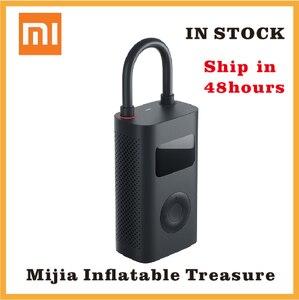 Image 1 - شاومي مضخة الهواء الكهربائية Mijia قابلة للشحن نافخة 150PSI الذكية الرقمية كشف ضغط الإطارات لكرة القدم سيارة دراجة مضخة